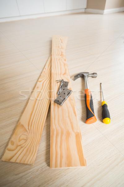 инструменты здании торговли древесины полу Сток-фото © wavebreak_media