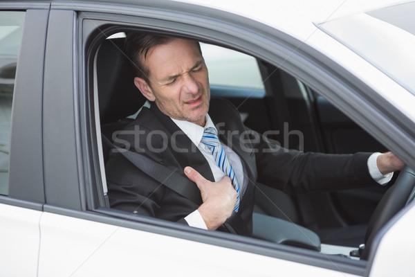 Affaires souffrance voiture affaires fenêtre Photo stock © wavebreak_media