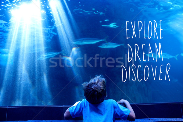 Composite image of explore, dream, discover Stock photo © wavebreak_media
