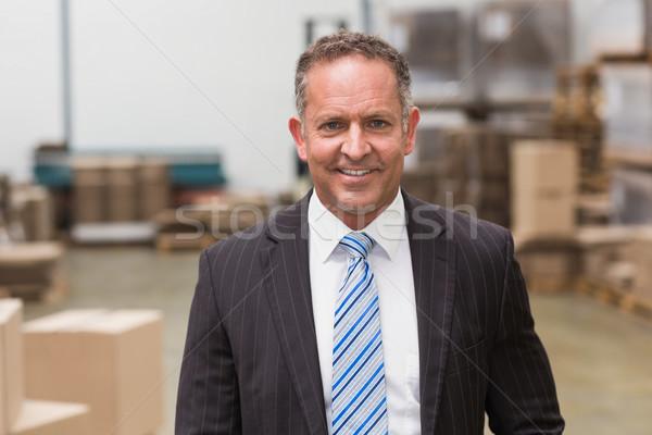 портрет улыбаясь Boss Постоянный большой склад Сток-фото © wavebreak_media