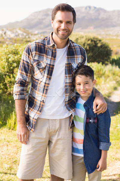 Father and son on a hike together Stock photo © wavebreak_media