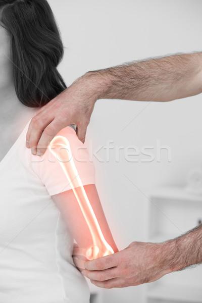 ストックフォト: 骨 · 女性 · デジタル複合 · 男 · 医師 · 医療