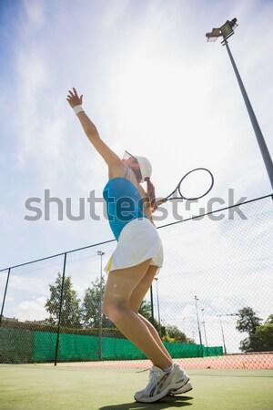Vrienden spelen volleybal strand man gelukkig Stockfoto © wavebreak_media