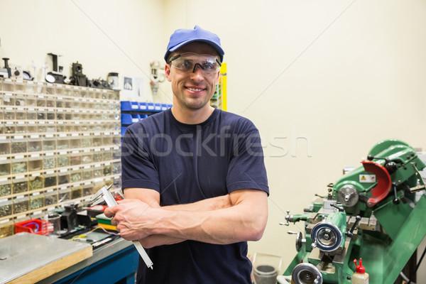 Mühendislik öğrenci gülen kamera üniversite adam Stok fotoğraf © wavebreak_media