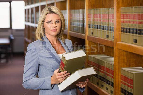 ストックフォト: 弁護士 · 図書 · 法 · ライブラリ · 読む