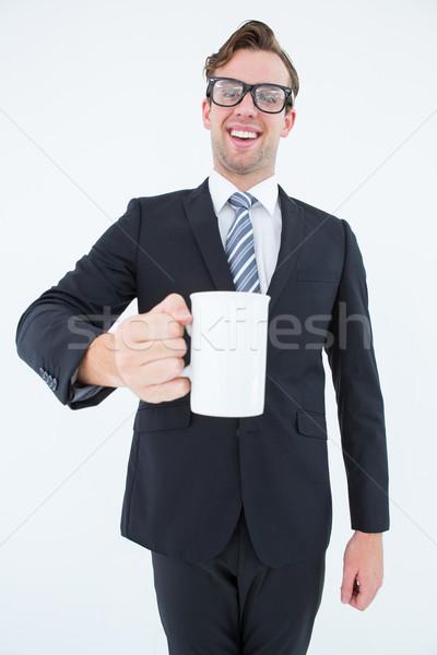幸せ ビジネスマン コーヒーマグ 白 ビジネス ストックフォト © wavebreak_media