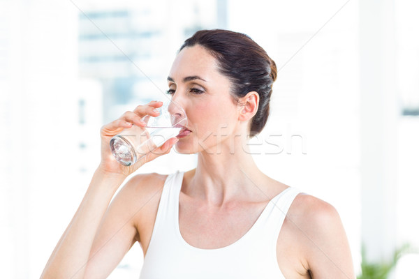 Brunette drinking water  Stock photo © wavebreak_media