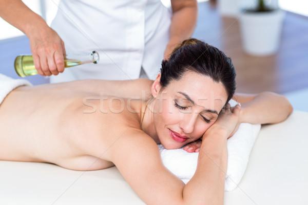 Sorrindo aromaterapia tratamento saudável estância termal mulher Foto stock © wavebreak_media