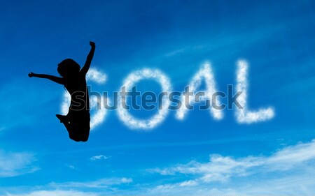 Composite image of businessman with hands raised on white backgr Stock photo © wavebreak_media