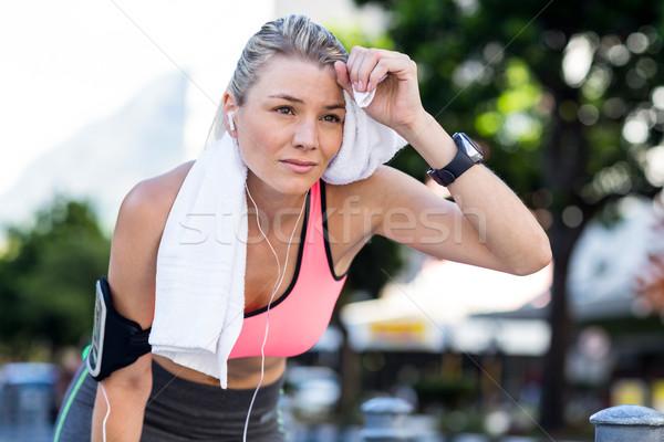 美しい 選手 タオル 市 ストックフォト © wavebreak_media