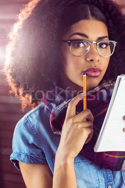 Aantrekkelijk gericht portret Rood Stockfoto © wavebreak_media