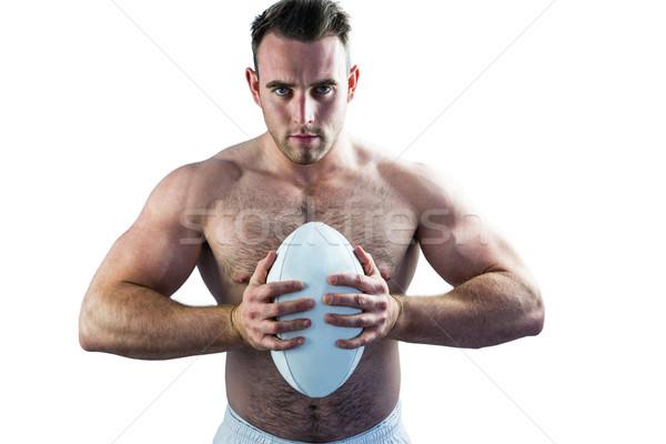 シャツを着ていない ラグビー プレーヤー ボール 白 ストックフォト © wavebreak_media
