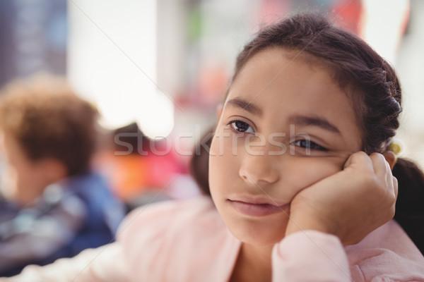 öğrenci oturma sınıf okul çocuk Stok fotoğraf © wavebreak_media