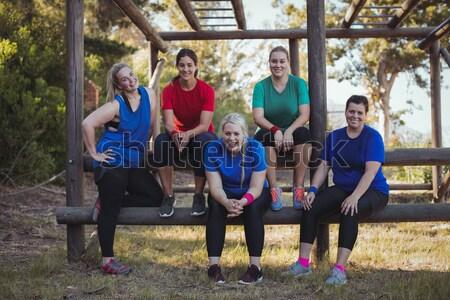 Csoport fitt nők áll együtt csizma Stock fotó © wavebreak_media