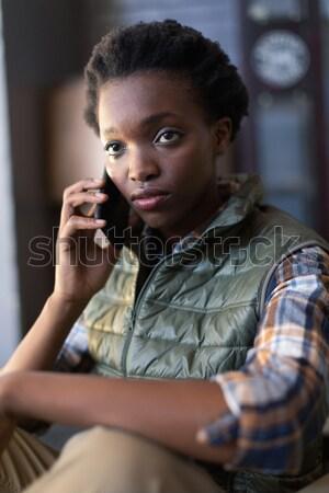Man vrouw dining restaurant voedsel liefde Stockfoto © wavebreak_media
