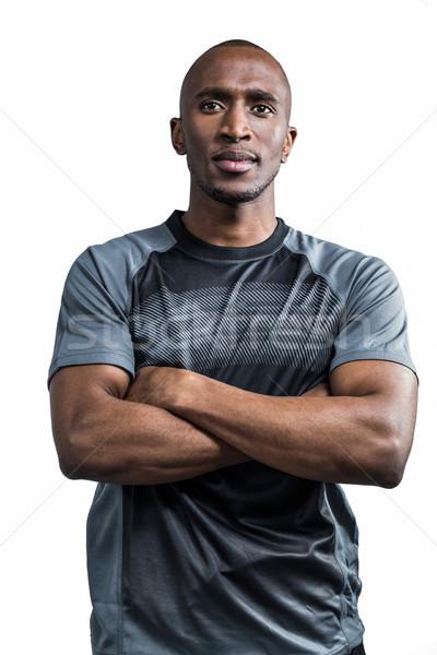 Ayakta beyaz spor erkek Stok fotoğraf © wavebreak_media