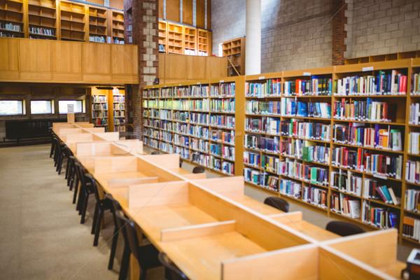 üres könyvtár egyetem könyv könyvek asztal Stock fotó © wavebreak_media