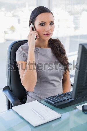 Exhausted businesswoman working on computer Stock photo © wavebreak_media