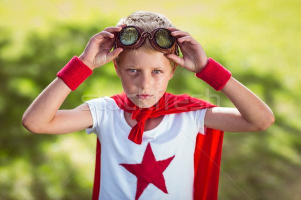 Little boy pretending to be superhero Stock photo © wavebreak_media