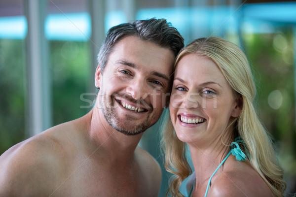 Retrato feliz Pareja piscina amor diversión Foto stock © wavebreak_media