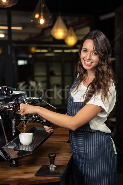 Barista preparing coffee with machine Stock photo © wavebreak_media