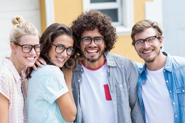Portrait of happy friends Stock photo © wavebreak_media