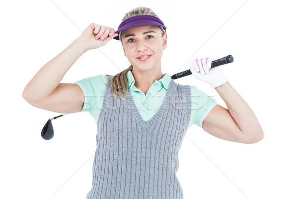 Pretty blonde playing golf Stock photo © wavebreak_media