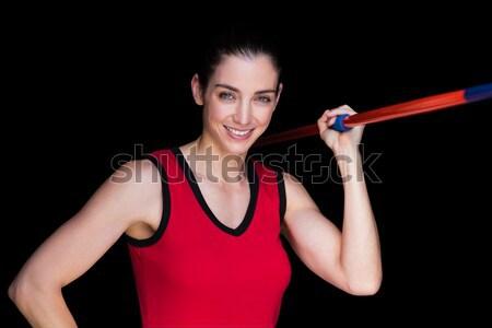 Female athlete throwing a javelin  Stock photo © wavebreak_media