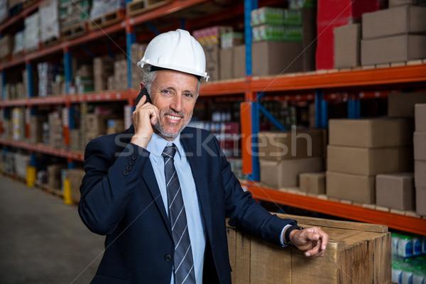 Business man calling on the phone  Stock photo © wavebreak_media