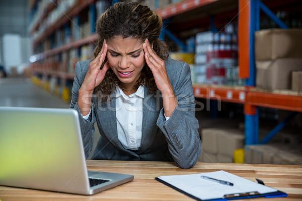 деловой женщины работу склад компьютер служба Сток-фото © wavebreak_media