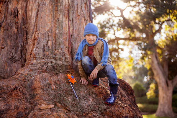 портрет мальчика парка природы Сток-фото © wavebreak_media