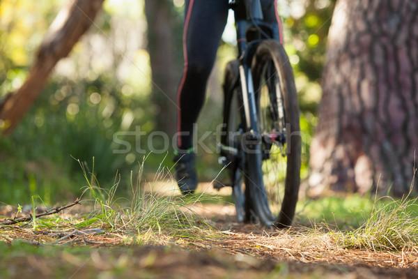 Stock fotó: Alacsony · részleg · női · hegy · motoros · lovaglás