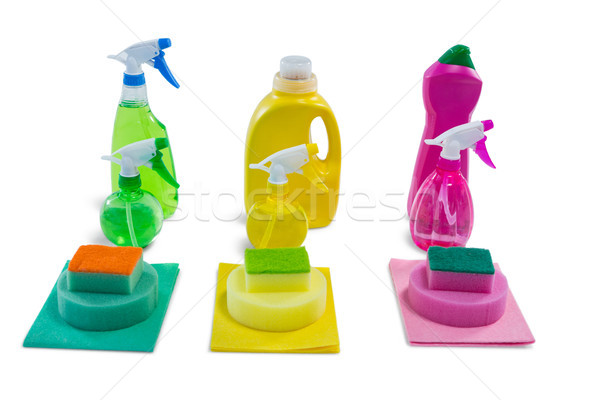 Close up of colorful cleaning products Stock photo © wavebreak_media