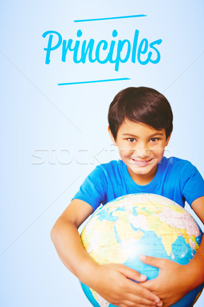 Princípios azul globo criança terra digital Foto stock © wavebreak_media