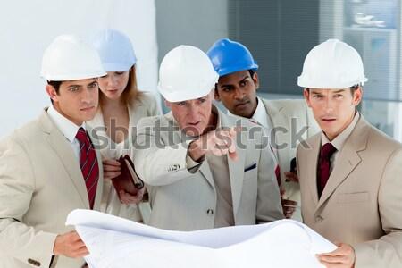 Architekta projektu zespołu dziedzinie budowy Zdjęcia stock © wavebreak_media