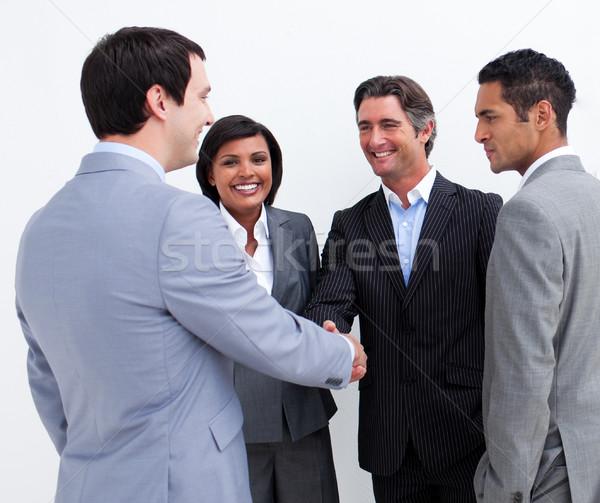 Business internazionale persone affrontare ufficio mani Foto d'archivio © wavebreak_media