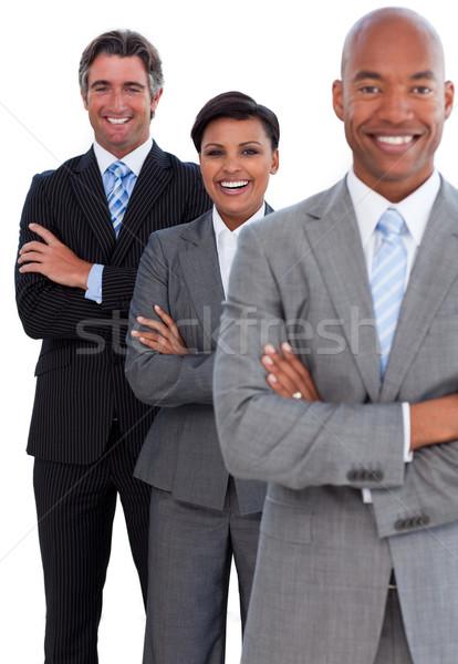 Ritratto squadra di affari bianco business sorriso felice Foto d'archivio © wavebreak_media