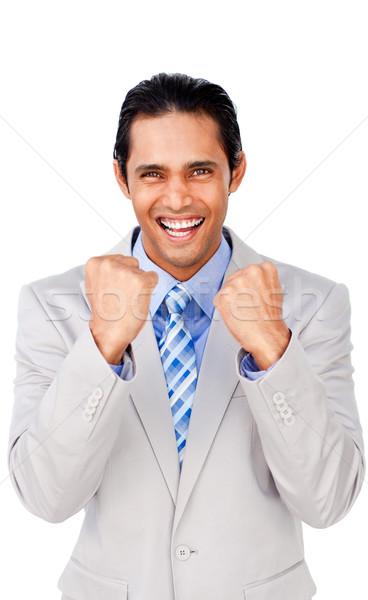 Portrait of a successful businessman punching the air Stock photo © wavebreak_media