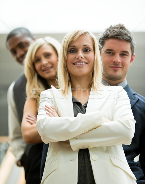 Leider teamleider team kantoor vergadering gelukkig Stockfoto © wavebreak_media