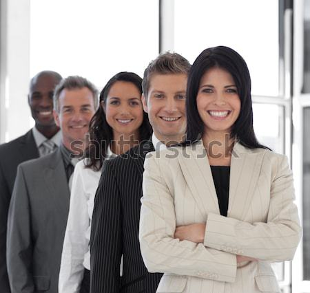 Hispanic Business woman leading a team of workers Stock photo © wavebreak_media