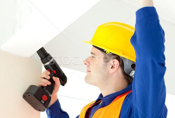 Drukke elektricien macht plan werk Stockfoto © wavebreak_media
