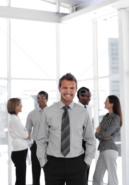 молодые бизнеса менеджера Постоянный камеры команда Сток-фото © wavebreak_media