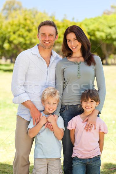 Portret rodziny parku niebo miłości człowiek Zdjęcia stock © wavebreak_media