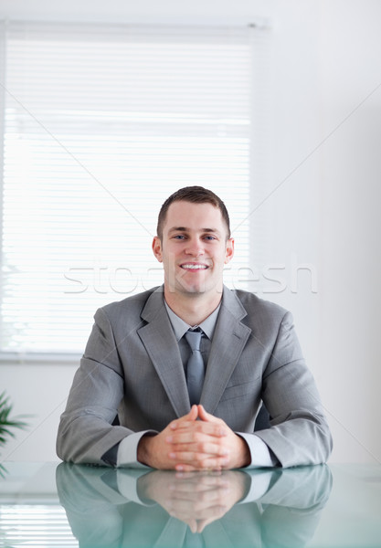 Close up of young businessman in a successful negotiation Stock photo © wavebreak_media