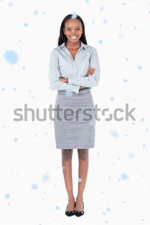Portret ernstig zakenvrouw witte kantoor uitvoerende Stockfoto © wavebreak_media