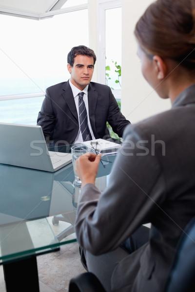 Portré üzleti csapat megbeszélés iroda üzlet munka Stock fotó © wavebreak_media