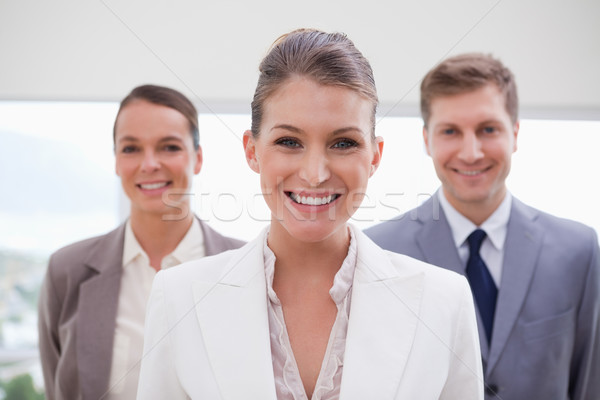Marketing manager piedi squadra dietro riunione Foto d'archivio © wavebreak_media