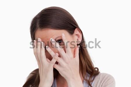 女性 隠蔽 後ろ 手 白 ストックフォト © wavebreak_media