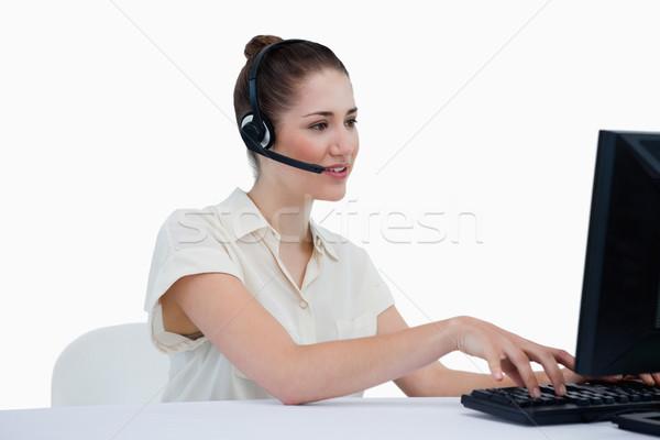 Secretário nomeação branco negócio computador Foto stock © wavebreak_media