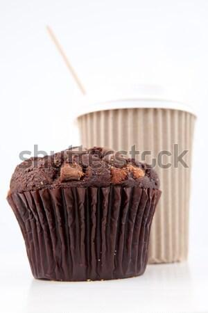 Pure chocola muffin Rood tabel witte chocolade Stockfoto © wavebreak_media